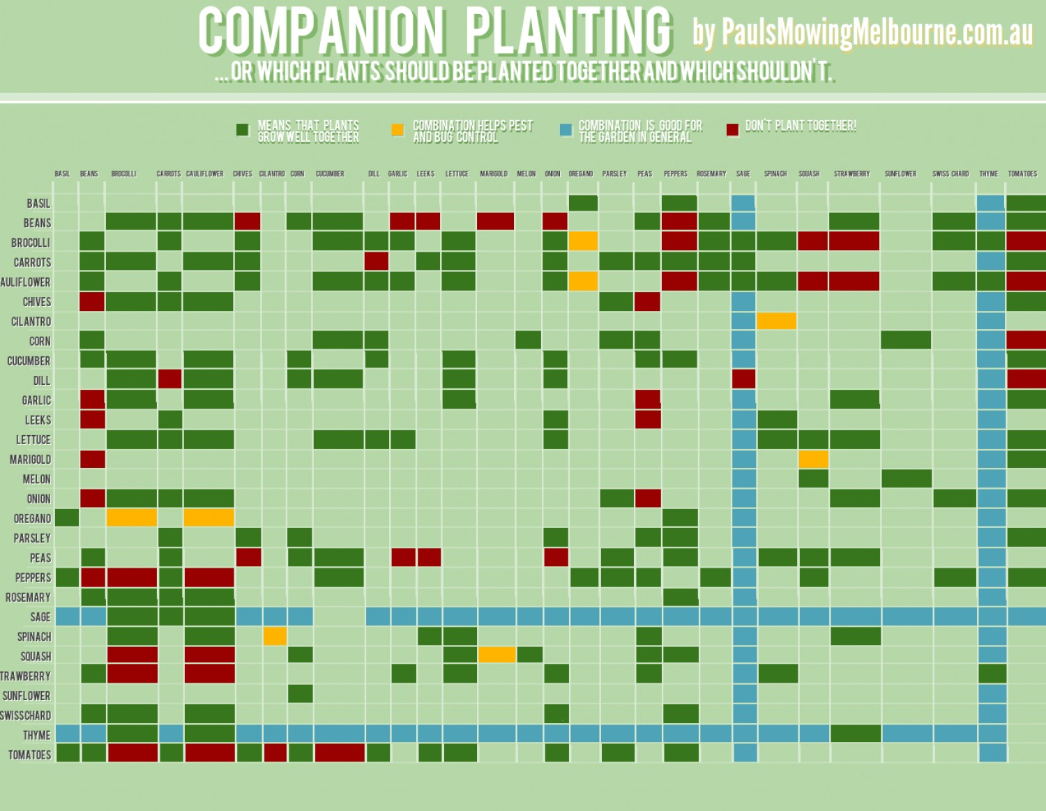 A kinda quick guide to companion planting deeply rooted for Nursery charts